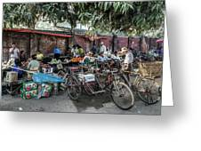 Yangon Market Greeting Card
