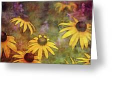 Yellow Among Purple 4234 Idp_2 Greeting Card
