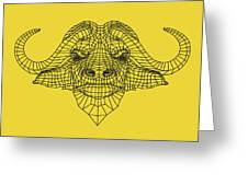 Yellow Buffalo Greeting Card