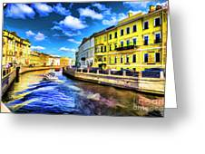 Yellow Canal Greeting Card