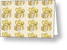 Yellow Presents Pattern Greeting Card