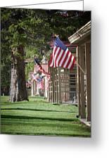 Yellowstone Flags Greeting Card