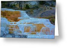 Yellowstone Mineral Deposits Greeting Card