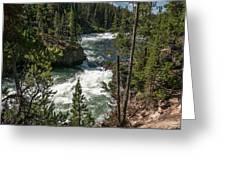 Yellowstone Rapids Greeting Card