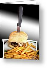 Yopper Burger Greeting Card