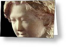 Young Girl-part-arttopan Carving-realistic Stone Sculptures-marble Greeting Card