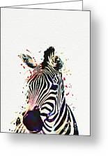 Zebra Watercolor Painting Greeting Card