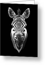 Zebra's Face Greeting Card