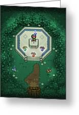 Zelda Mastersword Greeting Card