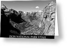 Zion Nationa Park Utah Greeting Card