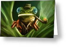 Inspector Frog - Greeting Card Product by Matthias Zegveld