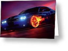 Wheels on Fire - Greeting Card Product by Matthias Zegveld