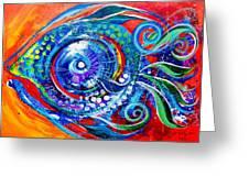 Colorful Comeback Fish Greeting Card