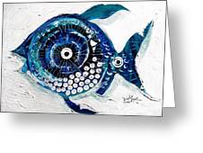 Enter The Icehole Fish Greeting Card