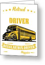 Portrait Retired School Bus Driver Just Like A Regular Sticker