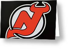 New Jersey Devils Logo Red On Black Photograph By Allen Beatty