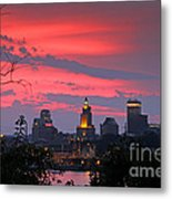 4th Of July Sunset Providence Ri Metal Print by Butch Lombardi