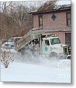 Ohio Snow Plow Metal Print