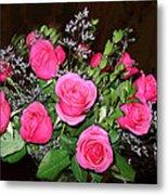1 Dozen Roses Metal Print