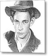 1930s Uncle Pencil Portrait Metal Print