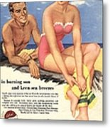 1950s Uk Sun Creams Lotions Tan Metal Print