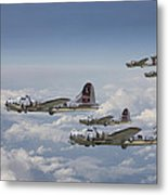 381st Group Outbound Metal Print