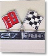 427 Turbo Jet Corvette Emblem Metal Print