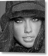 # 5 Adriana Lima Portrait Metal Print