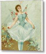 A Ballerina Balances A Liebig Metal Print