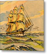 A China Clipper Ship Metal Print