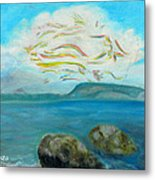 A Cloud Over The Sea Metal Print