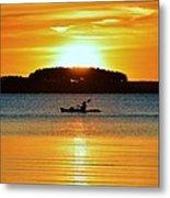A Reason To Kayak - Summer Sunset Metal Print
