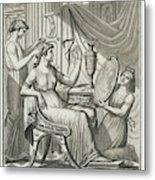 A Roman Lady Has Her Hair Done Metal Print