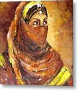A Woman Metal Print by Negoud Dahab