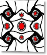 Abstract Geometric Black White Red Art No. 380. Metal Print by Drinka Mercep