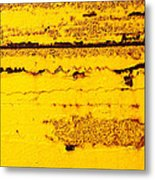 Abstracted In Ochre Metal Print
