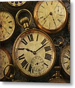 Aged Pocket Watches Metal Print