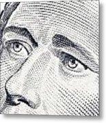 Alexander Hamilton's Ten Dollars Portrait Metal Print