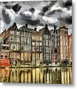Amsterdam Water Canals Metal Print