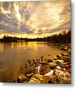 Androscoggin River Between Lewiston And Auburn Metal Print