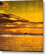 Autumn Sunset Over Ailsa Craig Metal Print