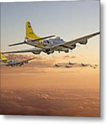 B17 - 486th Bg - Homeward Metal Print