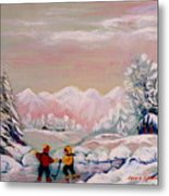 Beautiful Winter Fairytale Metal Print
