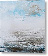 Blue Shore Rhythms And Textures 1 Metal Print