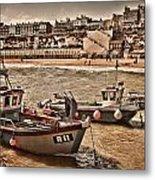 Boats At Broadstairs Metal Print