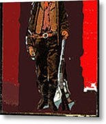 Bogus Drawing Photo Of Billy The Kid Ft. Sumner New Mexico C.1879-2013 Metal Print