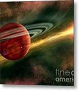 Born In Space Metal Print