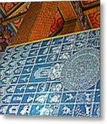 Bottom Of A Foot Of Reclining Buddha In Wat Po In Bangkok-thail Metal Print