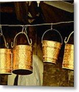 Buckets At Esfahan Market Metal Print
