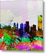 Buffalo Watercolor Skyline Metal Print